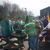 The Copper Hill Side Car Club at the 2008 Roanoke Saint Patrick's Parade. Left to right: Hank Pfister, LugNut, Velencia, Hank Waters (rear), Leslie Jo Waters