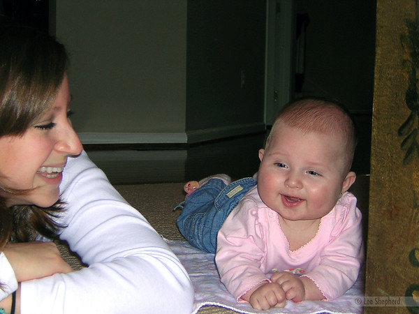 Lindsay is telling Madeline how lucky she is to have such an awesome daddy. Not sure why they're laughing.