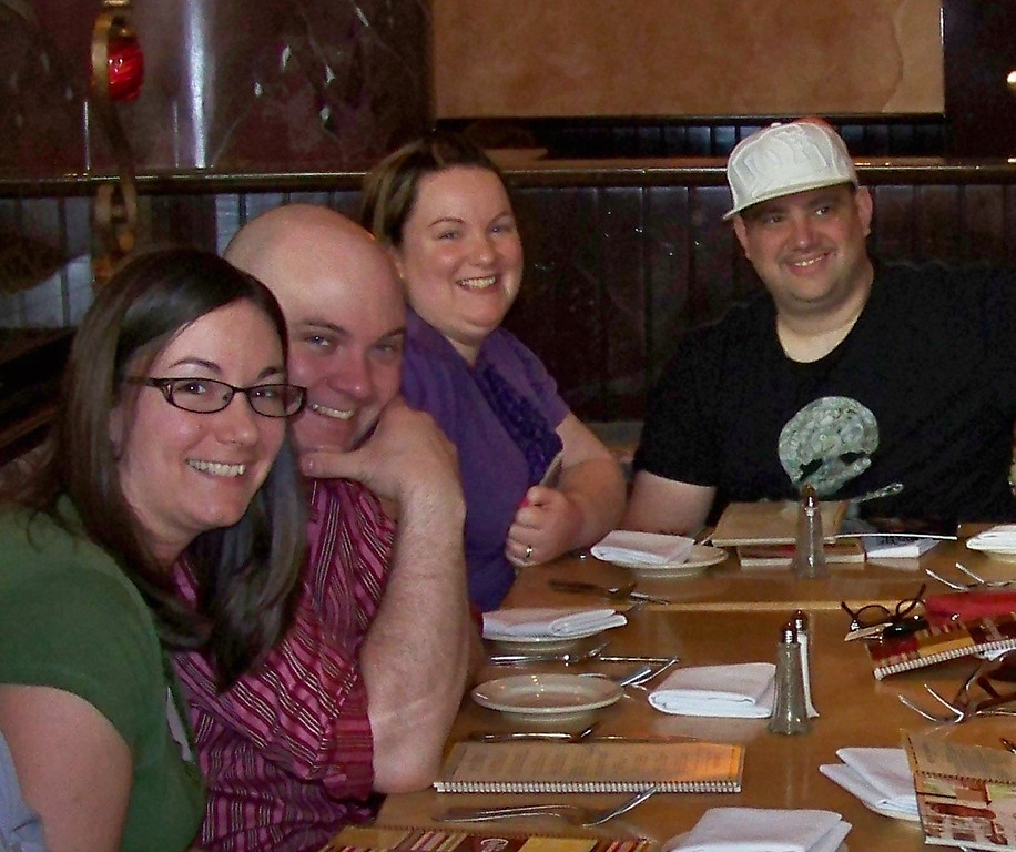 All of us at dinner - Joan, Dick, Chrissy, James, Dani, Terry, TJ, Barbara, Stacy and Julie!