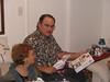 Stan getting a present from Rick Glenn on XMAS 2005