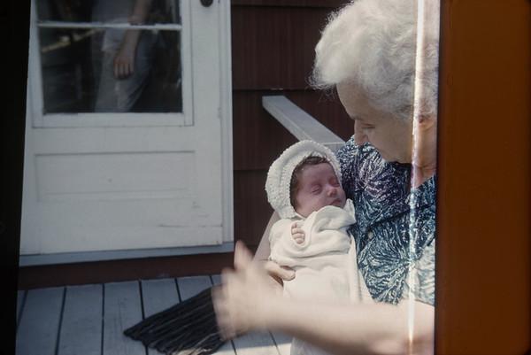 Barbara days old.   Branford, CT  April 1962