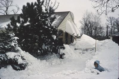 Big Snow.   Winter 1967