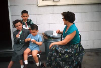 Nanna watching the Kids