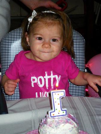 Christmas in California: Stella's First Birthday Celebration, Escondido CA December 26, 2009
