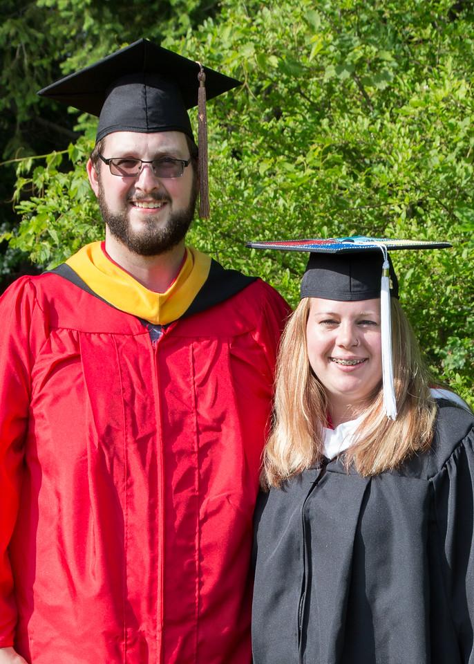 Stephen and Monica Grad Photos