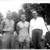 from left:  Joe Broudy (one of Dad's older brothers), Dad (looks to be about 17), and Sam Arnovitz (Jean Isaacson's first husband) - at the Progressive Club in Atlanta, GA