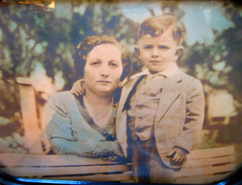 Charna Broudy with her son, Morris Henry.  Probably taken in Atlanta, GA around 1926 or 1927.