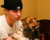 My 21 yr. old grandson, Greg, and Holle, my younger granddaughter, who by the way also has doggy eyes.