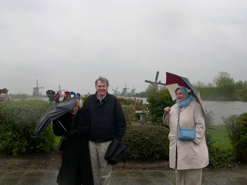 On the way home, we stopped at the Kinderdijk.  A World Heritage site, it preserves nineteen working windmills.  The windmills have been converted to homes, and the residents agree to keep up the windmills (five of them were operating when we were there).