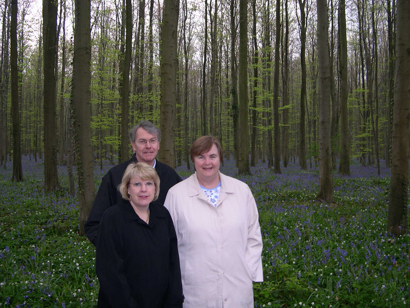 Kathy, Steve and Susan.  Our walk in the forest was cut short when it started to sleet.
