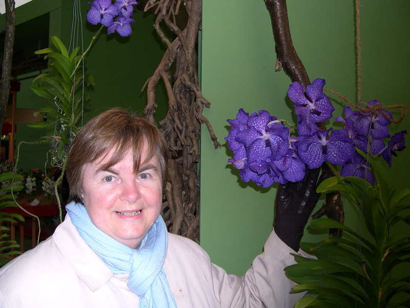 Susan and orchids.