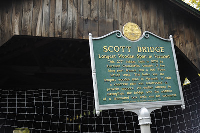 Scott Bridge, one of the many famous bridges in Vermont.