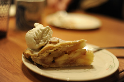 A piece of homemade apple pie to celebrate Keith Dierking's birthday