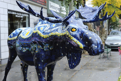 Van Gogh's Starry Night moose