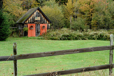 Beautiful, rustic barn along the roadside