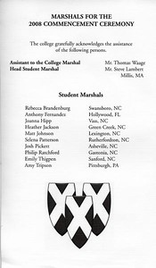 If you look at this large size, you will see who the Head Student Marshal is who ran commencement! Sorry to be a bragging dad...
