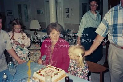 Margaret and Michelle's Birthday - June 1996