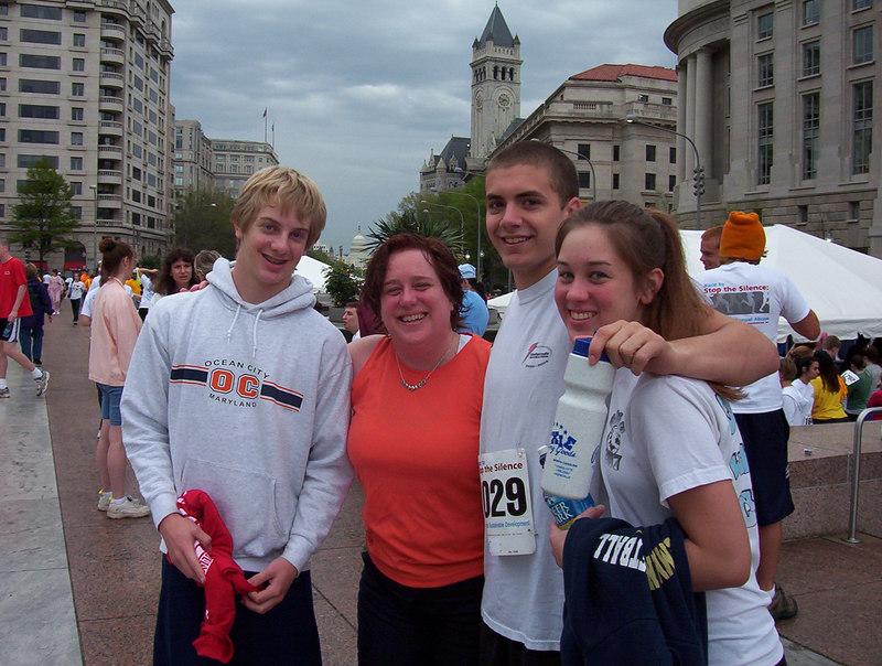 The kids, pre-race