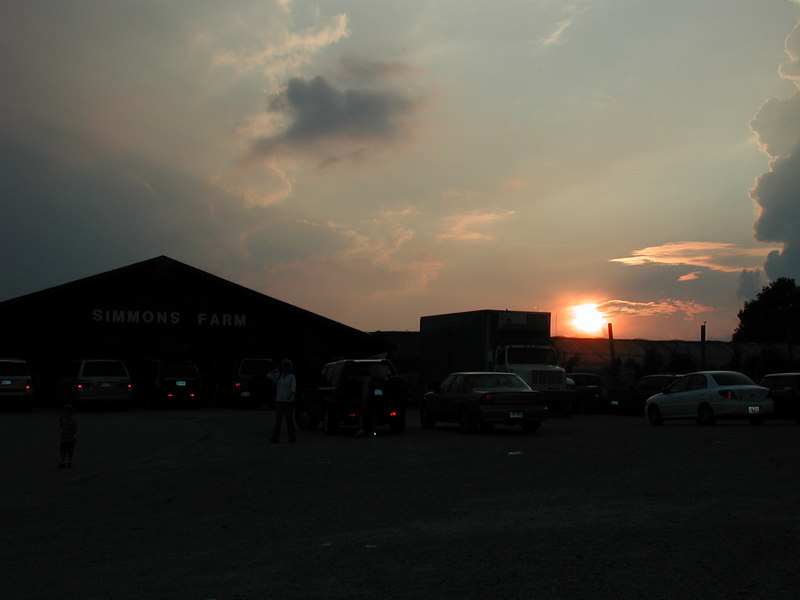 Sunset at the the farm store.