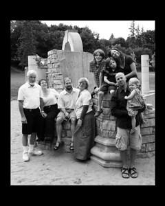 family ruins 8x10 bw