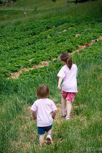 little sis following big sis.
