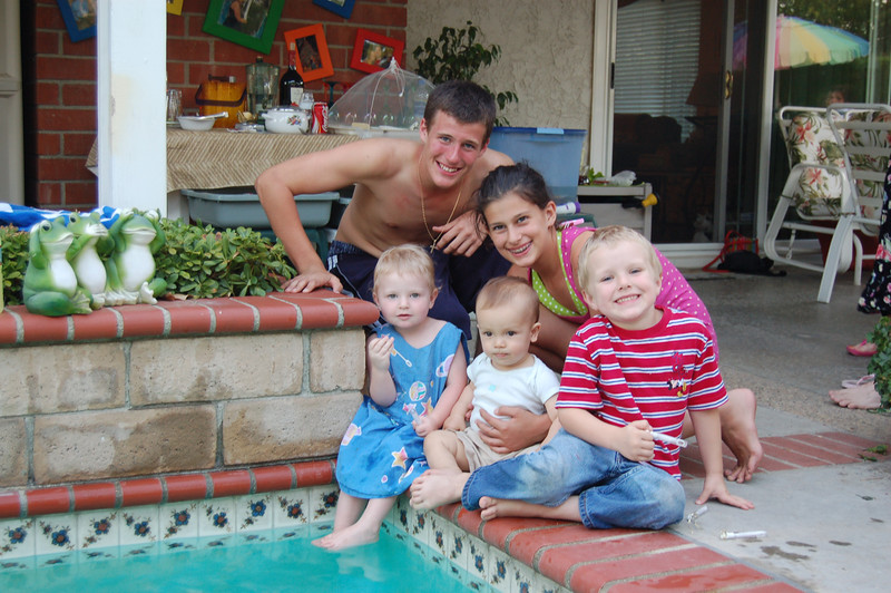 Here comes the next generation!!  Dan, Megan, Mikey, Mateo, Lizzie
