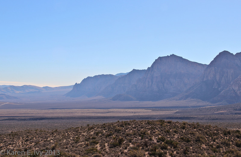 Spring Mountains, west and south of Red Rock