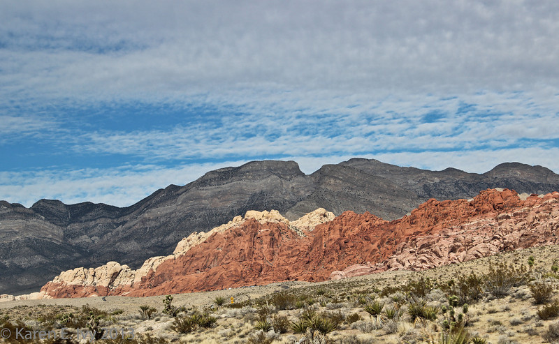 Calico Hills, from the visitors' center
