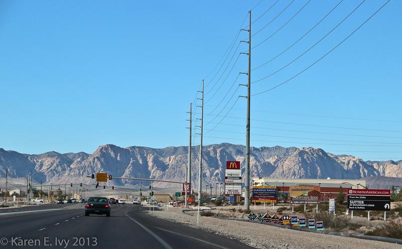 View down Blue Diamond Road.