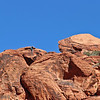 Calico Hills.  This shot has 2 hikers or climbers, just below the skyline.