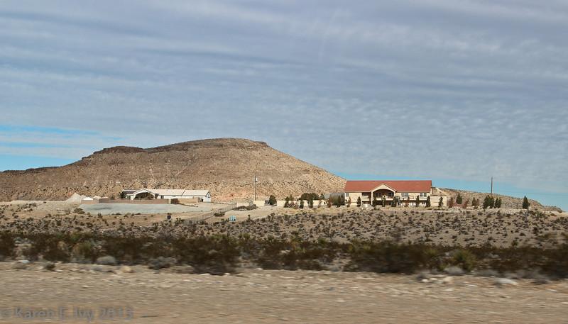 Houses off Blue Diamond Road.