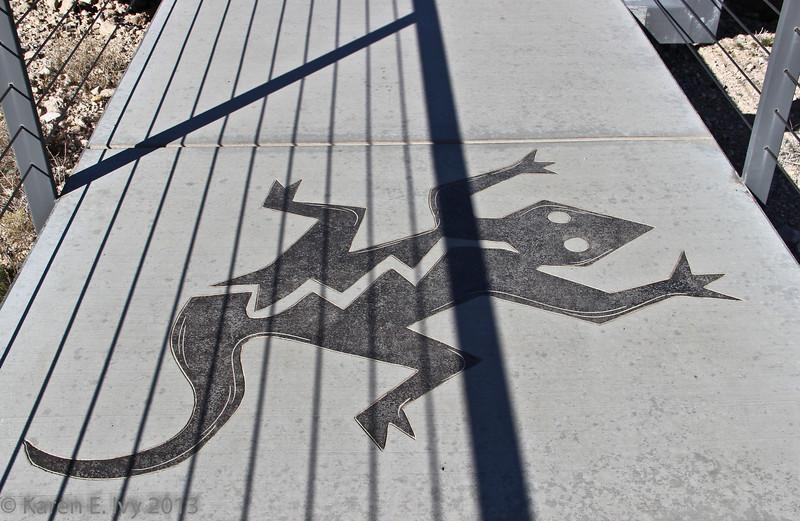 Lizard intaglio, Red Rock visitor center