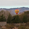 Hot-air balloon rides in the neighborhood - is he landing?