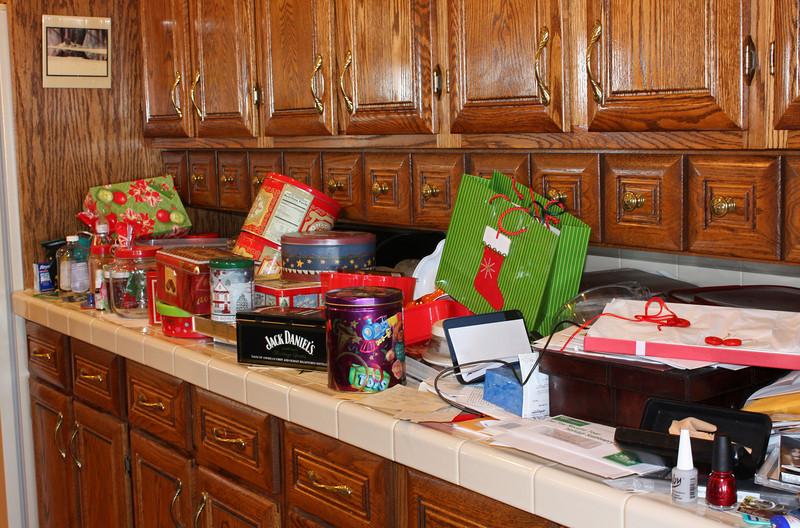 Susan's kitchen counter at Christmas