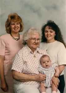 Sue, Jean, Carie & Leigha 1993