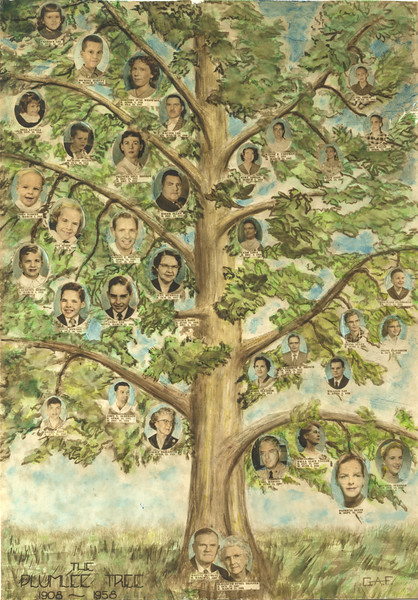 Plumlee family tree 8x10