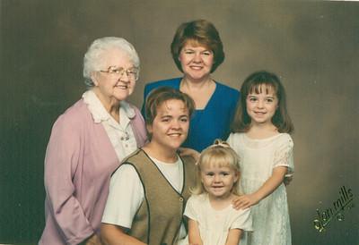 Jean, Sue, Carie, Bailey & Leigha 1998