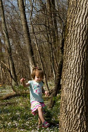 Suki and Grandpa Visit Potomac - Spring 2014