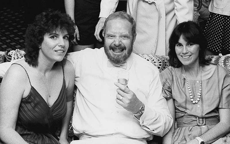 Kathy w George Williams Lisle B&W
