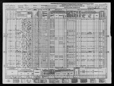 1940 Census - Lawrence Sullivan Family - Peru, IN