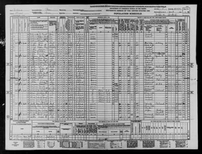 1940 Census - Angle Family - Peru, IN