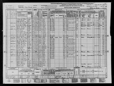 1940 Census - Plothow Family - Peru, IN