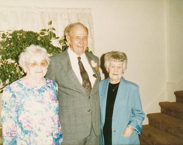 Edith Kasch, Ellis Sullivan, Birdena Neher (first cousins)