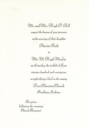 Wedding Invite (Annita Ruth Bell)