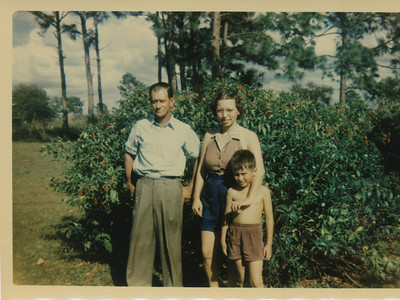 Elmo, Corrine & Butch Bell Jan 1954 (Ft  Myers, FL)