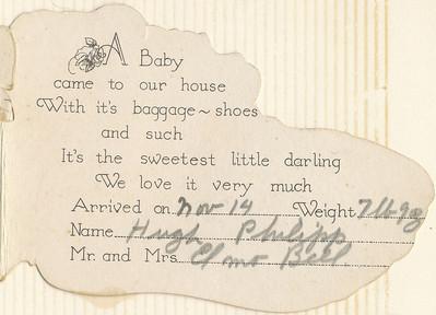 Baby Announcement (Hugh Bell)