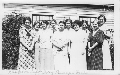 Inez Bowyer Fouts - Second from Left - No one else identified on photo back