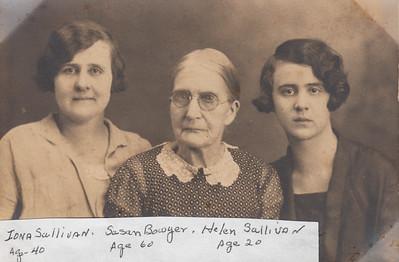 Iona (Bowyer) Sullivan, Susan (Delawter) Bowyer, & Helen Sullivan - 1927