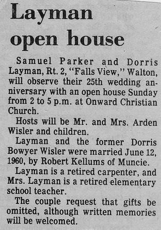 Lyman Open House - 1985