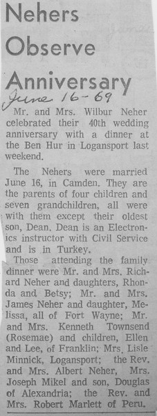 Nehers Observe Anniversary - 16JUN1969